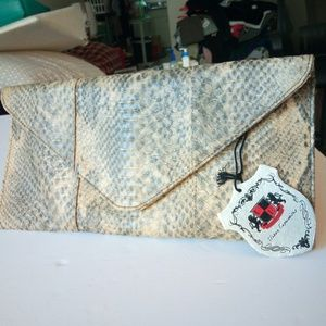 NWT Urban Expressions Envelope Clutch Snake Print